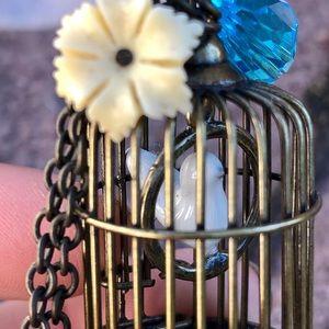 Park Lane Jewelry - Park Lane Antique Bronze Birdcage Necklace